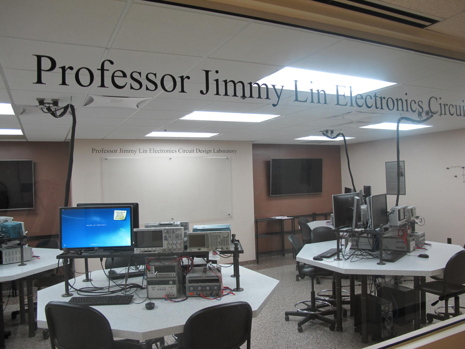 The Jimmy H.C. Lin Electronic Circuits Design Lab